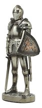 "Ebros Medieval Suit of Armor Statue 7"" Tall Valiant Swordsman Brave Lionheart Kn - $21.45"