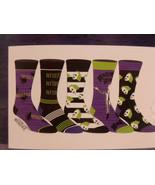 Beetle Juice CHARACTERS 5 PAIR CASUAL CREW SOCKS Shoe Sz 8-12 Beetlejuice - $16.95