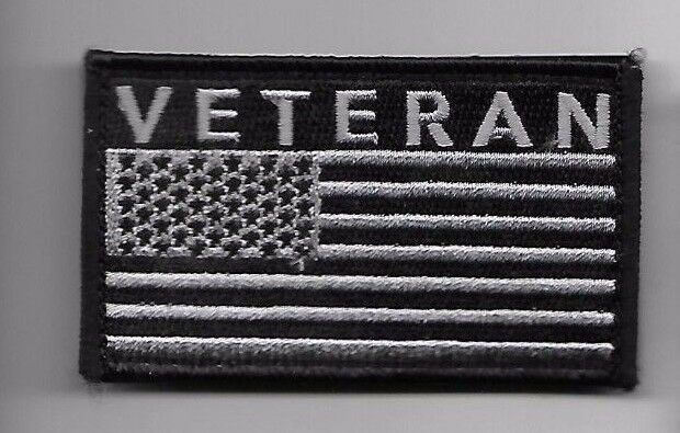 Primary image for VETERAN BLACK FLAG 2 X 3  EMBROIDERED PATCH WITH HOOK LOOP