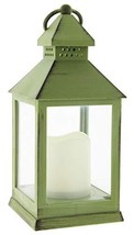 Joy of Giving Flameless LED Candle Table Lantern Green - $24.12