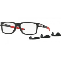 Authentic Eyeglasses OAKLEY LATCH EX Satin Black/Chrome Icon 54mm OX8115-04 - $110.84