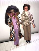 1973 Mattel Mod Hair Ken & Mego Lilac Bellbottoms On AA Tnt Barbie - $59.39