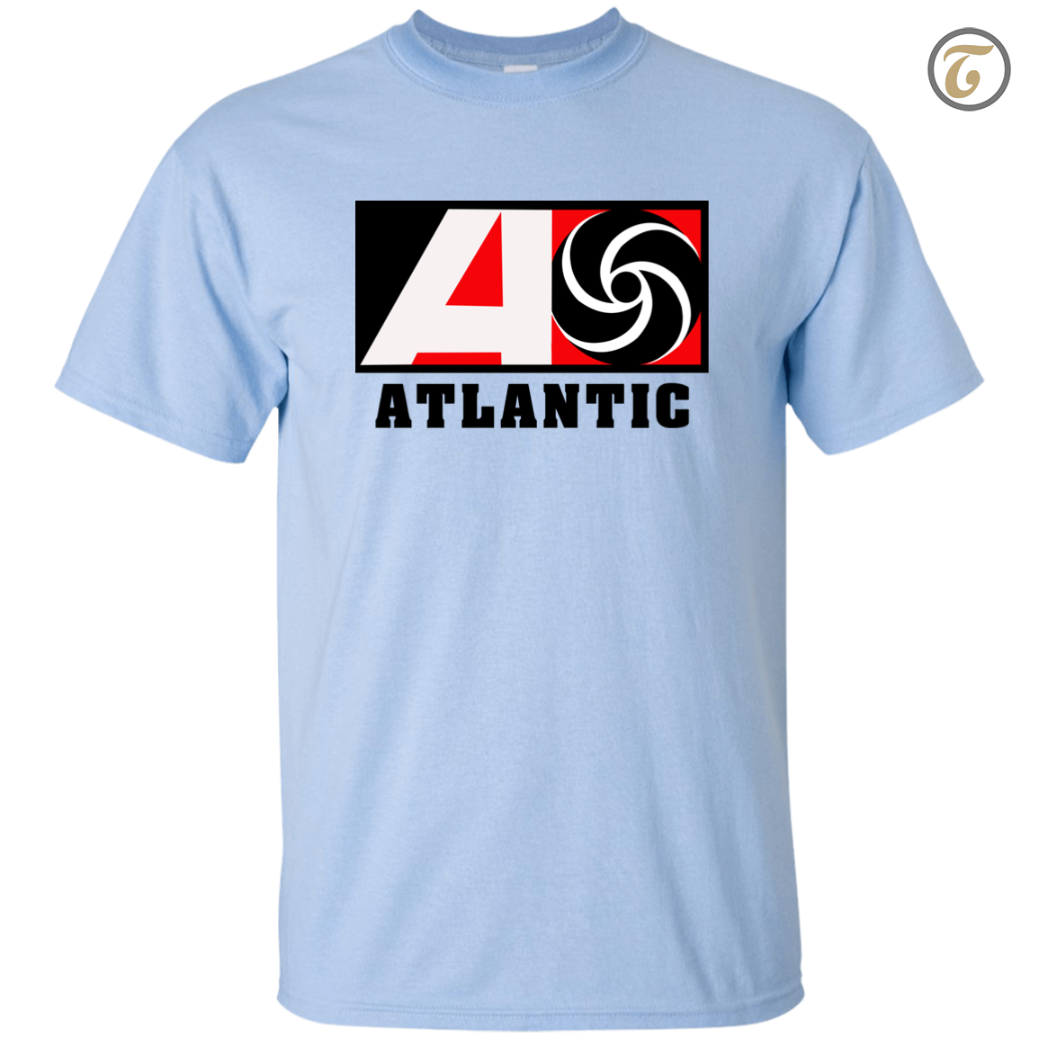 Atlantic Records Record Label Men T-Shirt - Light Blue