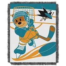 NHL San Jose Sharks Throw Blanket 36x46 Deep Pacific Teal Burnt Orange B... - $58.99