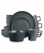 Stone Lain Coupe Dinnerware Set, Service For 4, Gray Matte  - $77.98