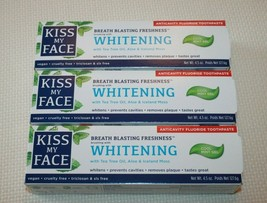 Kiss My Face Whitening Toothpaste Gel Anticavity Fluoride Cool Mint 4.5 oz Vegan - $28.05