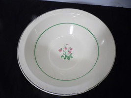 Vintage Johnson Brothers Pareek Soup Serving  Bowl Pink Tulip Flower - $15.83