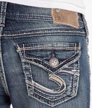 SILVER JEANS Sale Mid Rise Suki Flap Surplus Denim Jean Stretch Shorts 2... - $27.83