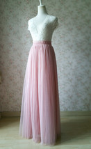 Wedding Bridesmaids Maxi Tulle Skirt Outfit, Baby Pink Blush Pink Rose Pink Tutu image 15