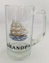 Grandpa Personalized Drink Cup Root Beer Glass Mug 12 oz Clear - $19.59