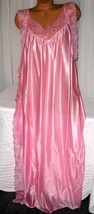 Pink Toga Style Lace Open Tie Look Side Long Nightgown 3X Plus Size  - $22.75