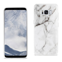 Reiko Samsung Galaxy S8 Edge/ S8 Plus Streak Marble Cover In White - $8.56