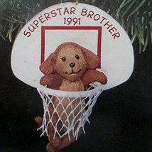 "Hallmark Keepsake Christmas ornament titled "" Superstar Brother "" from 1991 part - $24.74"