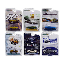 Greenlight Anniversary Collection Series 7, Set of 6 Cars 1/64 Diecast M... - $47.63