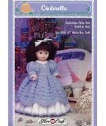 "Cinderella 13"" Music Box Doll Outfit Fibre Craft FCM400 Knit Pattern Leaflet - $2.67"
