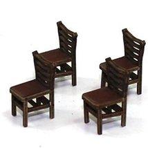 28mm Furniture: Medium Wood Ladder Back Chair (A)