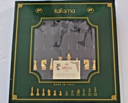 ITALFAMA  Wooden Weighted Lacquered Chess Men + Board chessboard set - $296.99