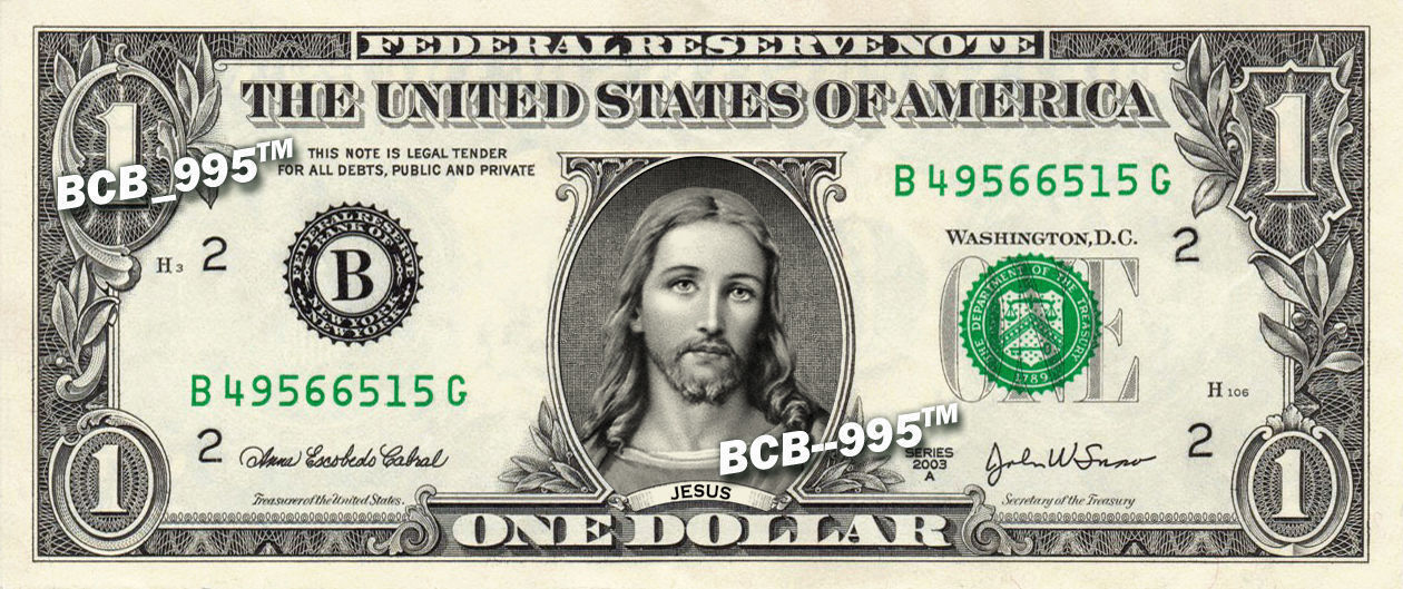 Primary image for JESUS on a REAL Dollar Bill Cash Money Collectible Memorabilia Bank Note Dinero