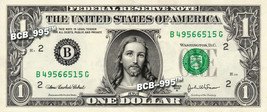 JESUS on a REAL Dollar Bill Cash Money Collectible Memorabilia Bank Note... - $4.50