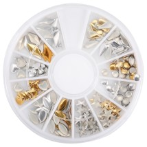 12 Shapes 3D Nail Art Decorations Wheel(AS THE PICTURE) - $7.33