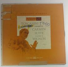Arturo Toscanini Carmen Suite Overture To Mignon Record LP 10in Vintage ... - £7.93 GBP