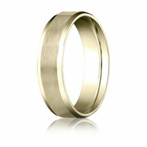 Fine 10k Yellow Gold 6 mm Comfort-Fit d with High Polished Beveled Edge ... - $242.55+