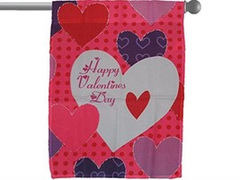 ALBATROS Happy VALENTINEinS Day Big Hearts Garden Banner Flag 28 in x 40... - $26.34