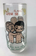 Kim Casali Love is Telling him about his golf game Drink Glass Tumbler  ... - $7.72