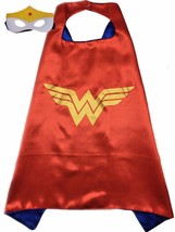 Superhero Wonder Child Cape and Mask Satin Lined Cape - $6.99