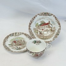 Johnson Brothers Heritage Hall Soup Bowl Cup Saucer - $22.49