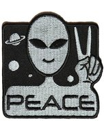 Peace Alien Fun Patch - UFO Funny Embroidered Iron-On Patch - 3 x 3 inch... - $6.88