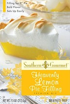 Southern Gourmet Heavenly Lemon Pie Filling Mix, 7.5 Ounce Pack of 6