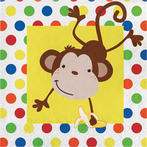 2 Ply Lunch Napkins Fun Monkey/Case of 192 - £20.88 GBP