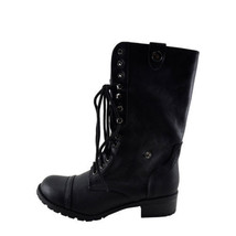 Soda Oralee Black Women's Lace Up Combat Bootie size 6.5 - $34.65