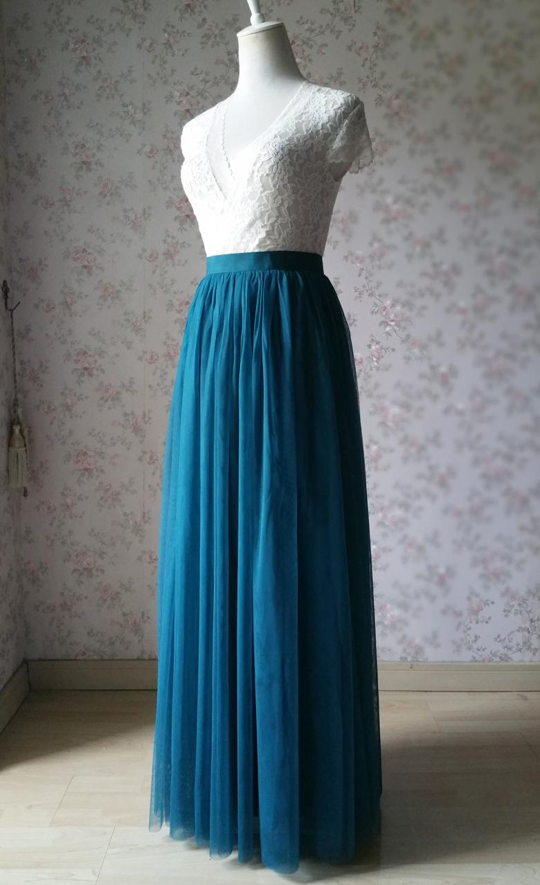 Long tulle skirt wedding green  59 1