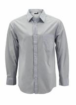 Men's Cotton Casual Long Sleeve Classic Grey Button Up Dress Shirt - Medium image 1