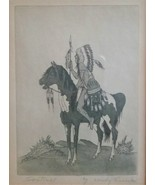 Woody Crumbo,signed original Title:Sentinel. American Indian, Vintage, Rare - $85.00