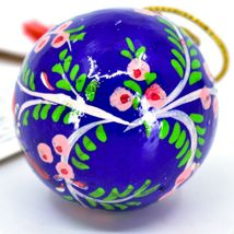 Asha Handicrafts Hand Painted Papier-Mâché Blue Bird Holiday Christmas Ornament  image 5