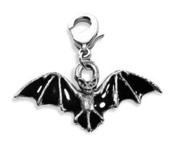 Bat Charm Dangle in Silver - $19.59