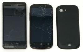 2 Lot Motorola MB810 ZTE N861 Cell Phone MetroPcs Locked Used Wholesale - $32.56