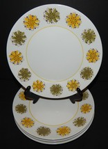 4 Mikasa La Jolla Japan Dessert Salad Plates Green & Yellow Flowers 2006-K1 - $32.66