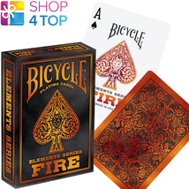 Bicycle Fire Elements Series Poker Playing Cards Deck Orange Red Made In Usa New - $7.03
