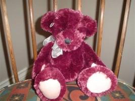 Russ Berrie Burgundy 12 Inch Plush Bear with Heart 29856 - $88.88