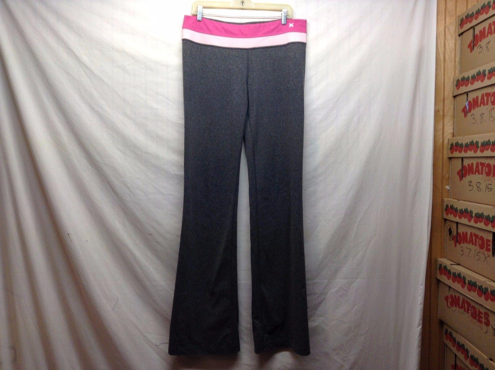 Pink Grey Xersion Performance Wear Slimfit Workout Pants Sz S
