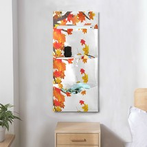 Closet Organizers Hanging Abstract Autumnal Flying Maple Leaves Wall Bag... - $29.99