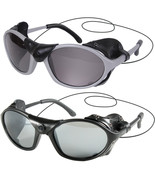 Tactical Flying Sunglasses Wind Side Guard Leather Panel UV400 Lense Sun... - $12.99+