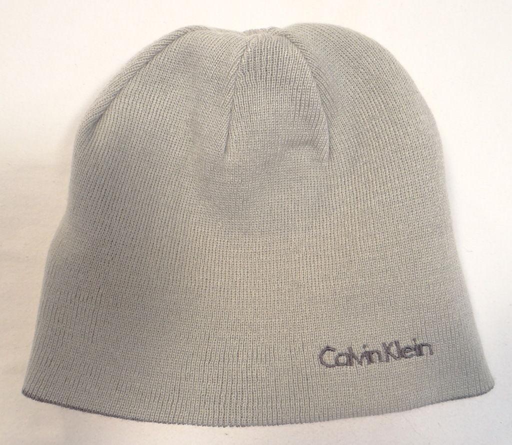 0b378565 Calvin Klein Reversible Gray Knit Beanie and 50 similar items