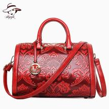 Vintage Fashion Flower Embossed Women Handbag - $42.62