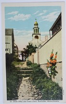Stone Alley and Town Clock Nantucket Island, Massachusettes Postcard - $2.95