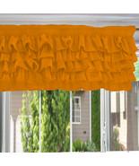 Chiffon BURNT ORANGE Ruffle Layered Window Valance any size - $29.99+